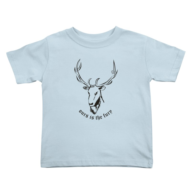 Deer Fury Kids Toddler T-Shirt by Synner Design