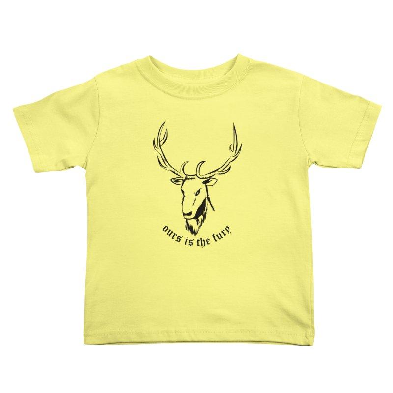 Deer Fury Kids Toddler T-Shirt by Synner Design
