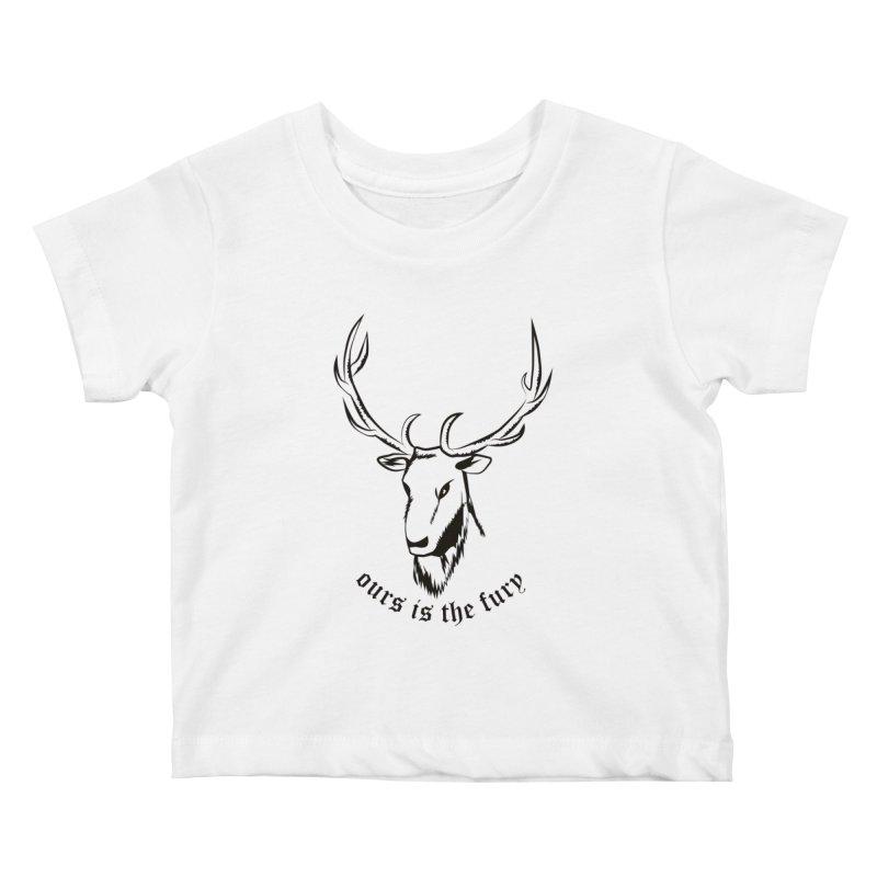 Deer Fury Kids Baby T-Shirt by Synner Design