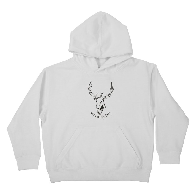 Deer Fury Kids Pullover Hoody by Synner Design