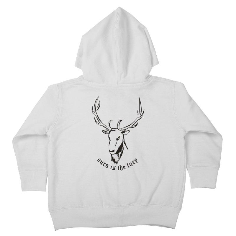 Deer Fury Kids Toddler Zip-Up Hoody by Synner Design