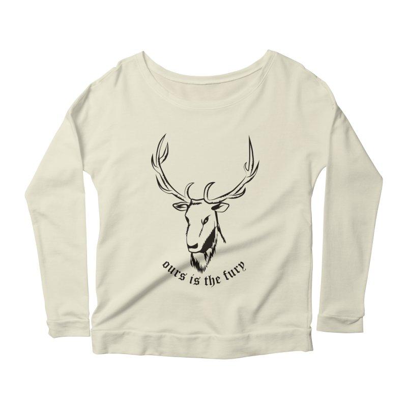 Deer Fury Women's Longsleeve Scoopneck  by Synner Design
