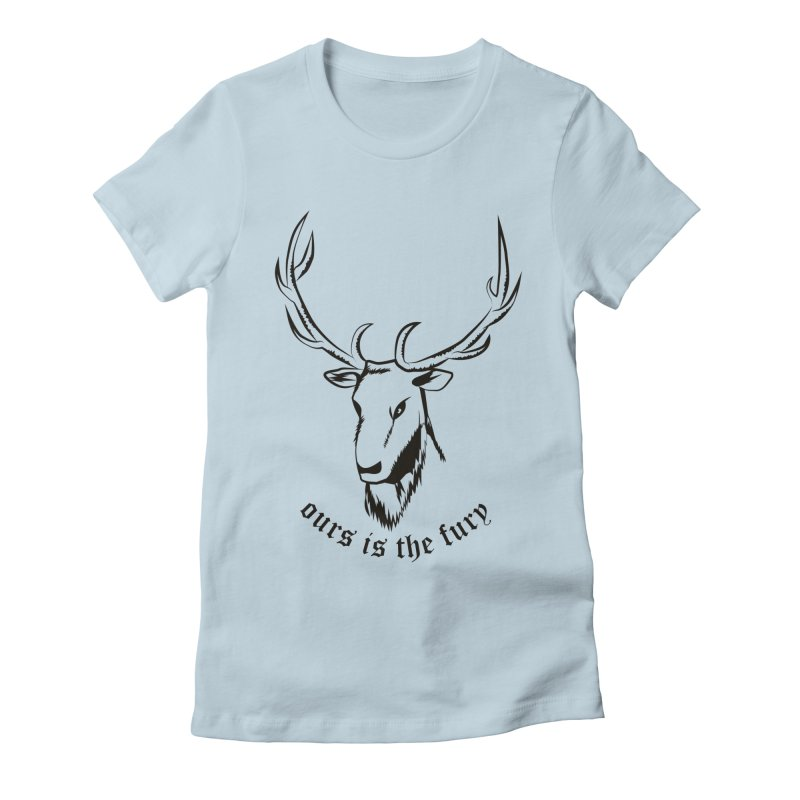 Deer Fury Women's Fitted T-Shirt by Synner Design