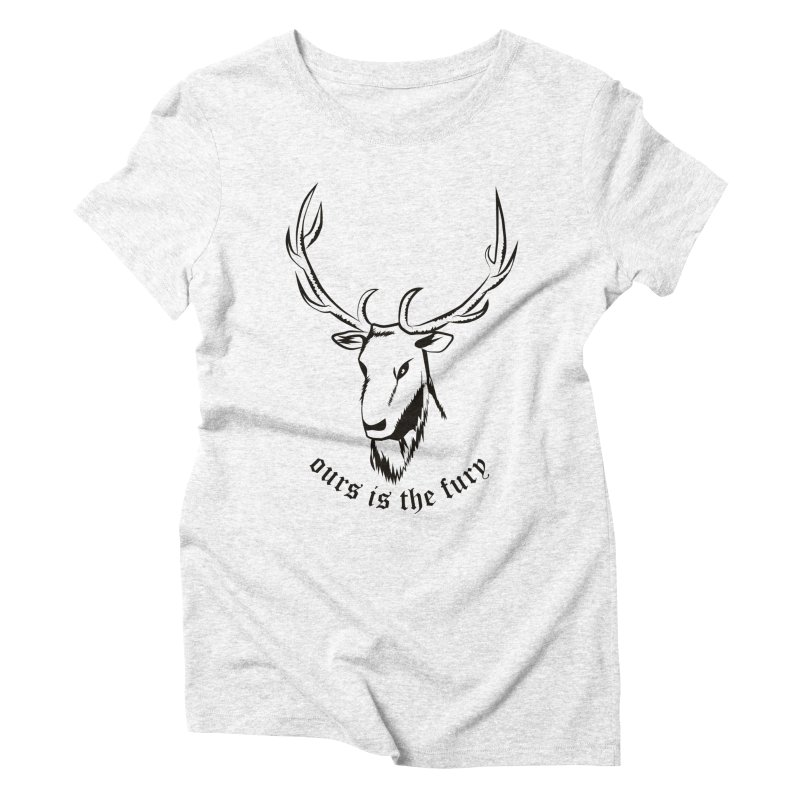 Deer Fury Women's Triblend T-shirt by Synner Design