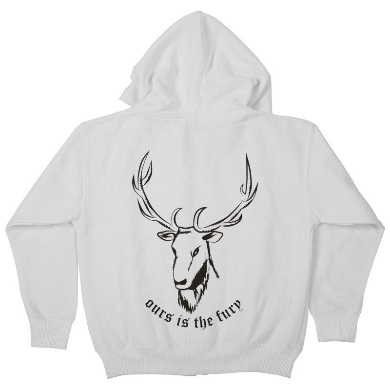 Deer Fury Kids Zip-Up Hoody by Synner Design