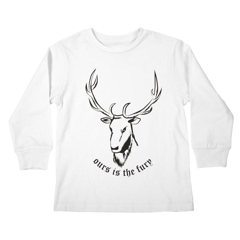 Deer Fury Kids Longsleeve T-Shirt by Synner Design