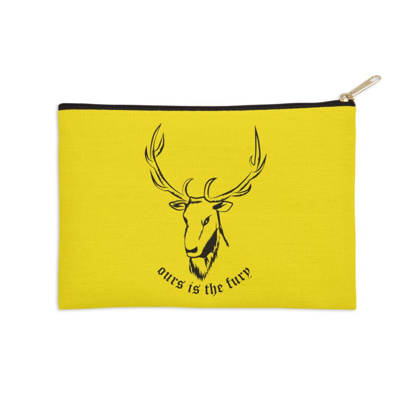 Deer Fury Accessories Zip Pouch by Synner Design