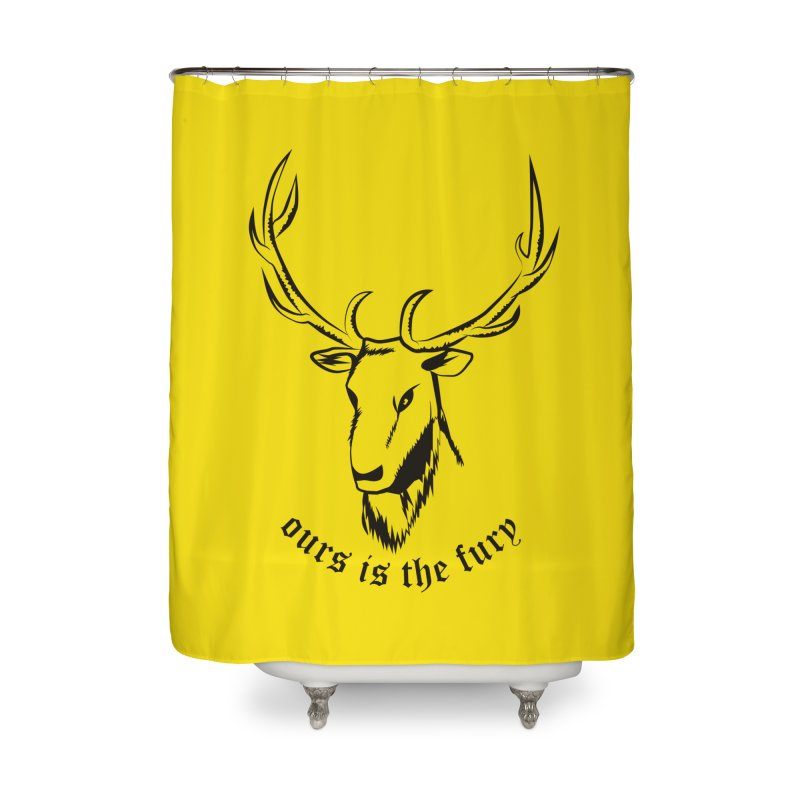 Deer Fury Home Shower Curtain by Synner Design