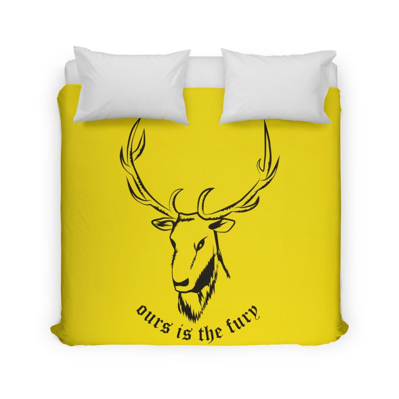 Deer Fury Home Duvet by Synner Design