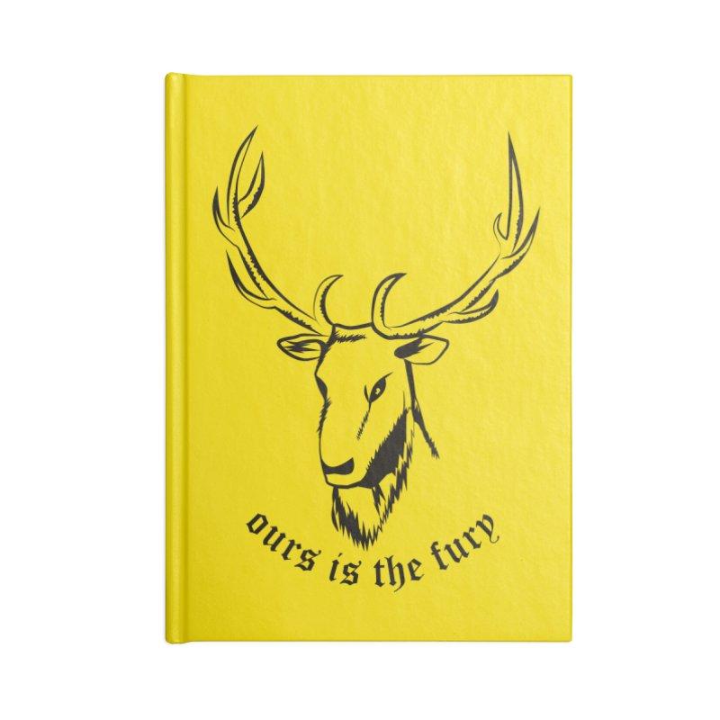 Deer Fury Accessories Notebook by Synner Design