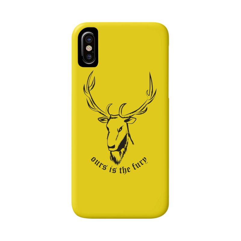 Deer Fury Accessories Phone Case by Synner Design