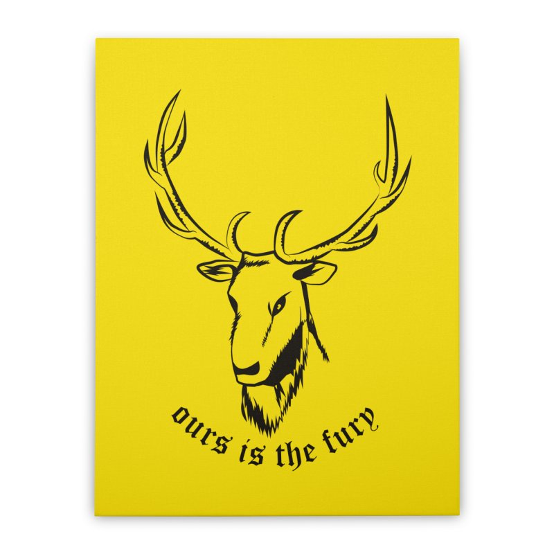 Deer Fury Home Stretched Canvas by Synner Design