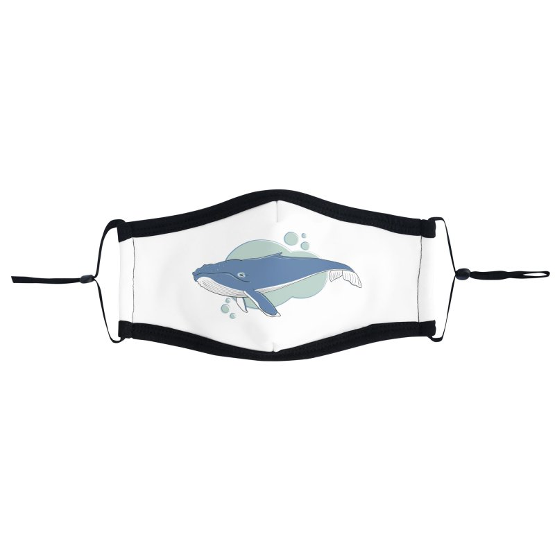 Humpback Whale Accessories Face Mask by Synner Design