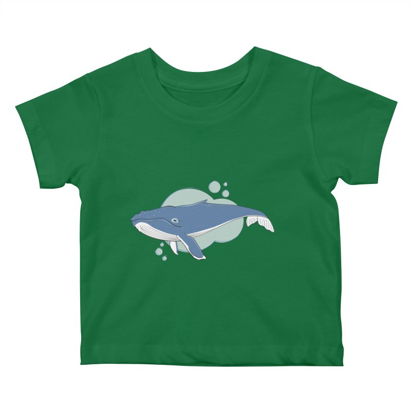 Humpback Whale Kids Baby T-Shirt by Synner Design