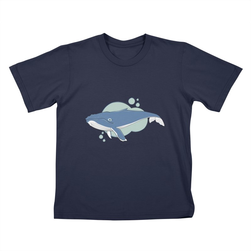 Humpback Whale Kids T-Shirt by Synner Design