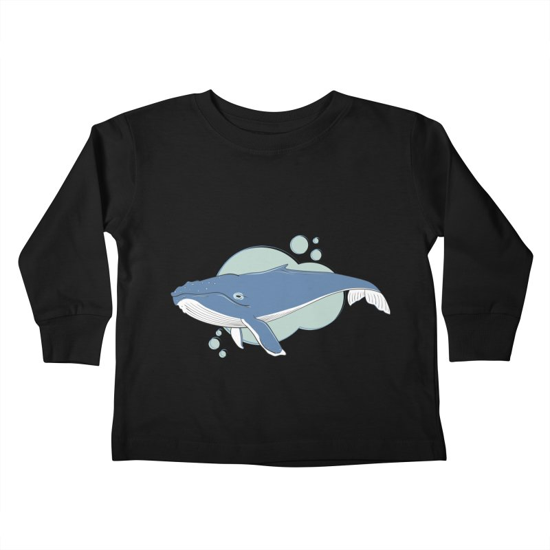 Humpback Whale Kids Toddler Longsleeve T-Shirt by Synner Design