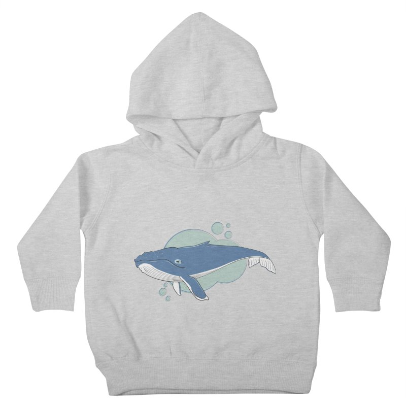 Humpback Whale Kids Toddler Pullover Hoody by Synner Design