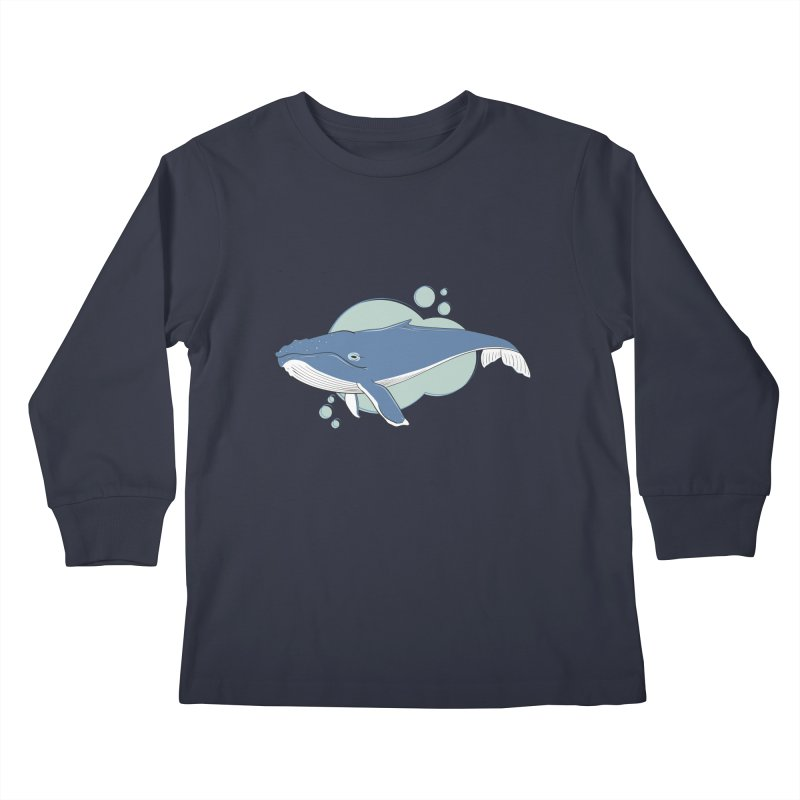 Humpback Whale Kids Longsleeve T-Shirt by Synner Design