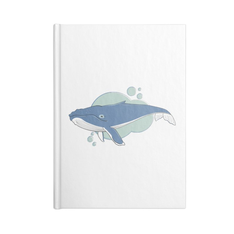 Humpback Whale Accessories Notebook by Synner Design