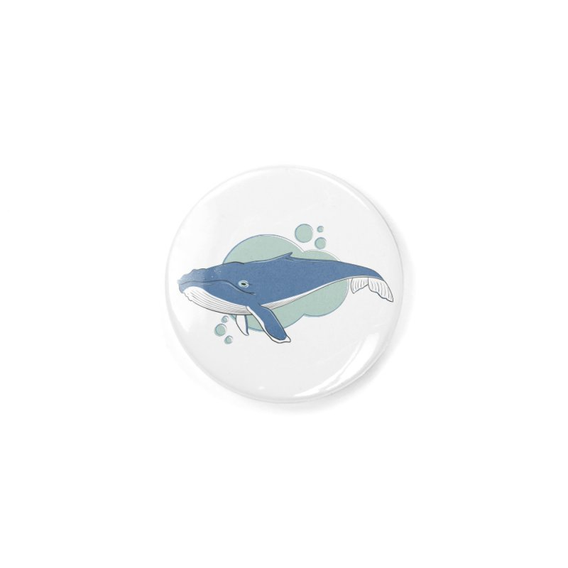 Humpback Whale Accessories Button by Synner Design