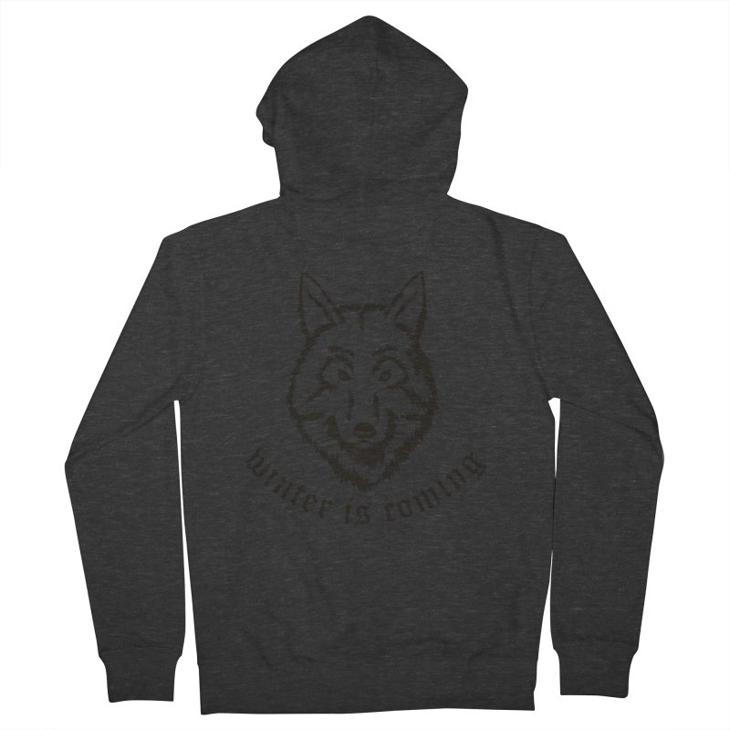 Northern Wolf Men's Zip-Up Hoody by Synner Design