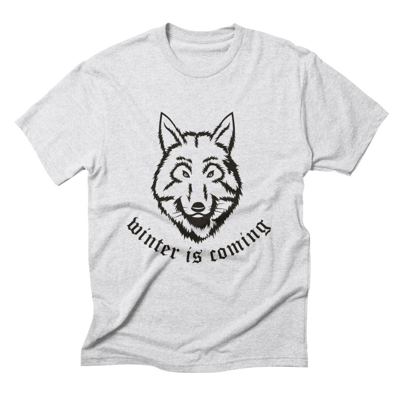 Northern Wolf Men's Triblend T-shirt by Synner Design