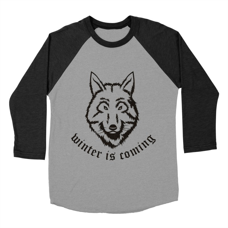 Northern Wolf Men's Baseball Triblend T-Shirt by Synner Design