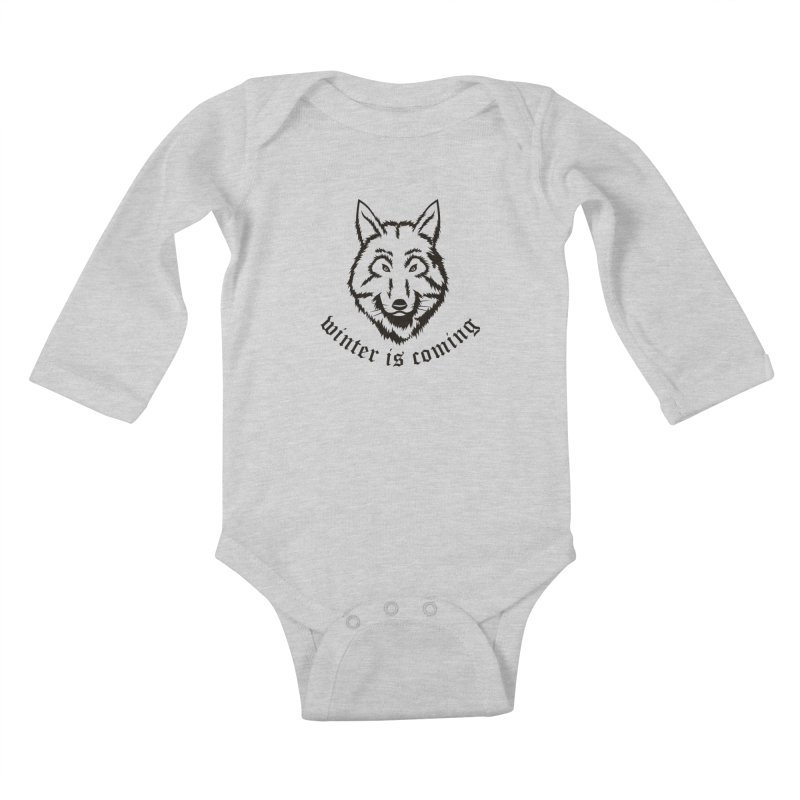 Northern Wolf Kids Baby Longsleeve Bodysuit by Synner Design