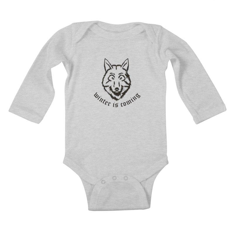 Northern Wolf Kids Baby Longsleeve Bodysuit by Synner Design