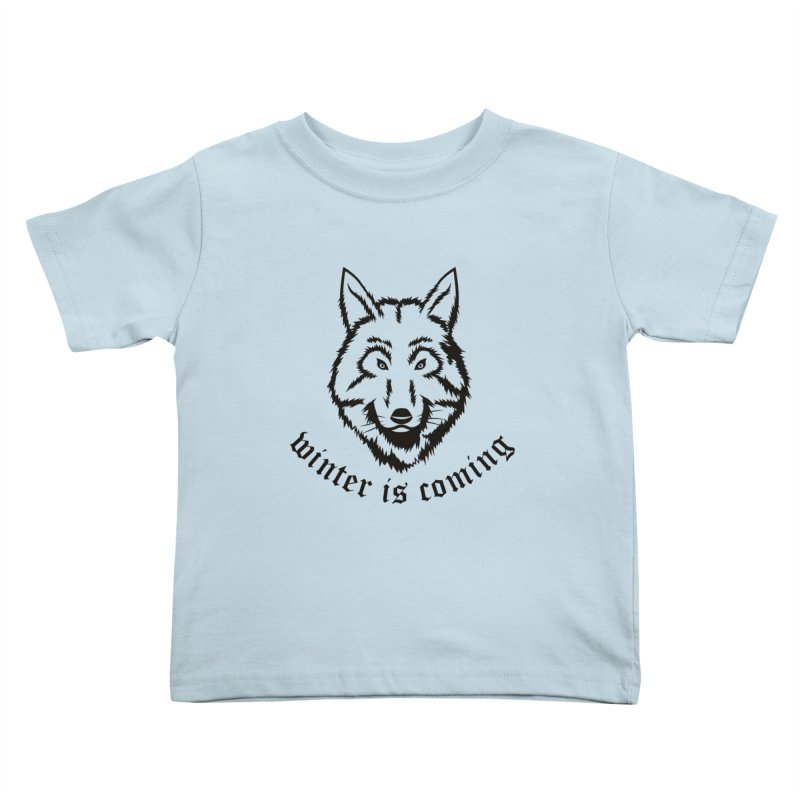 Northern Wolf Kids Toddler T-Shirt by Synner Design
