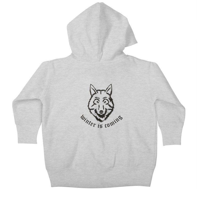 Northern Wolf Kids Baby Zip-Up Hoody by Synner Design