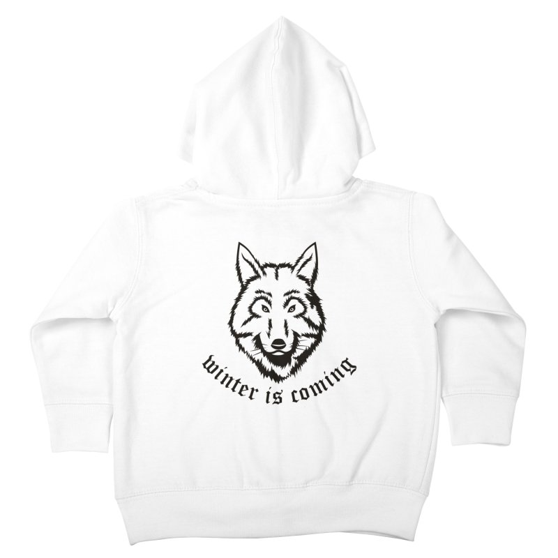Northern Wolf Kids Toddler Zip-Up Hoody by Synner Design