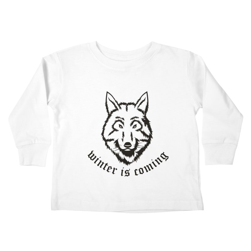 Northern Wolf Kids Toddler Longsleeve T-Shirt by Synner Design