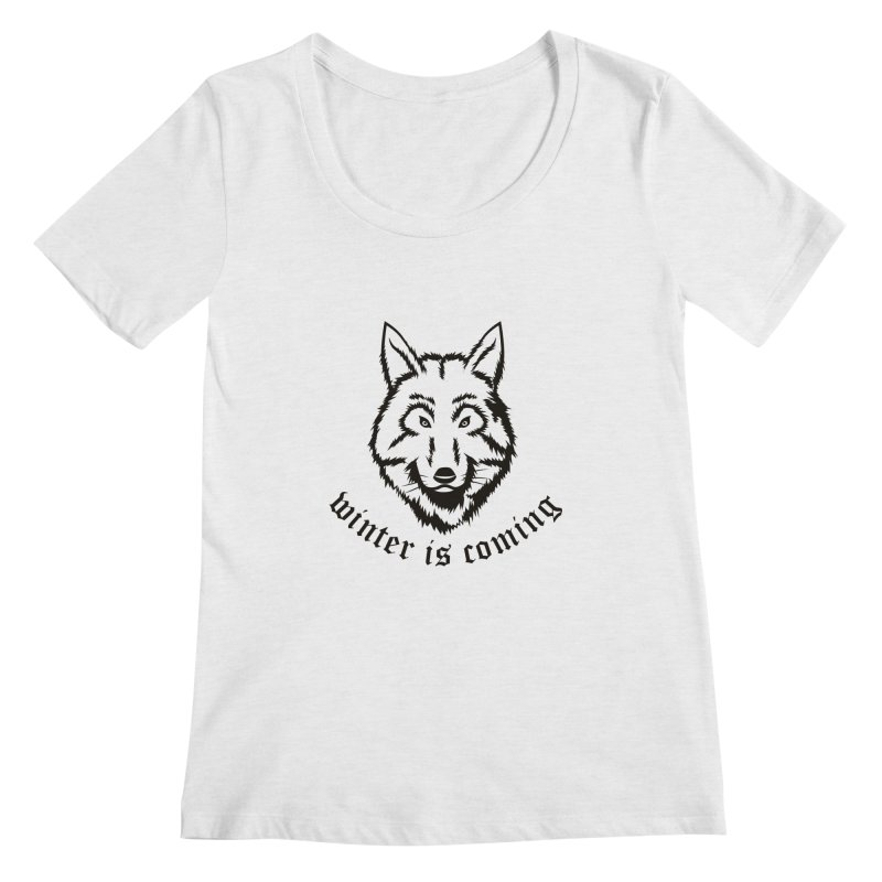 Northern Wolf Women's Scoopneck by Synner Design