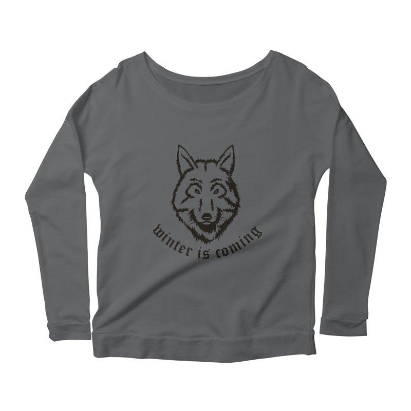 Northern Wolf Women's Longsleeve Scoopneck  by Synner Design