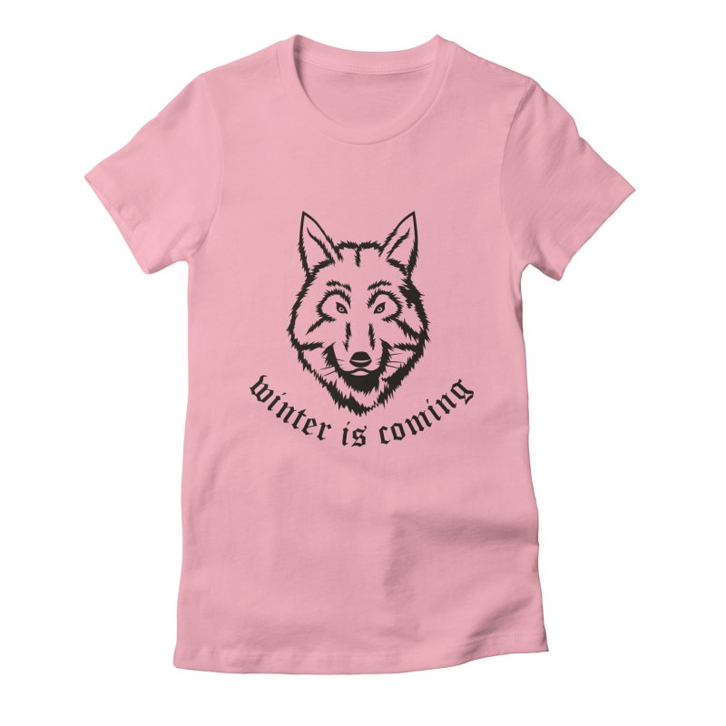 Northern Wolf Women's Fitted T-Shirt by Synner Design