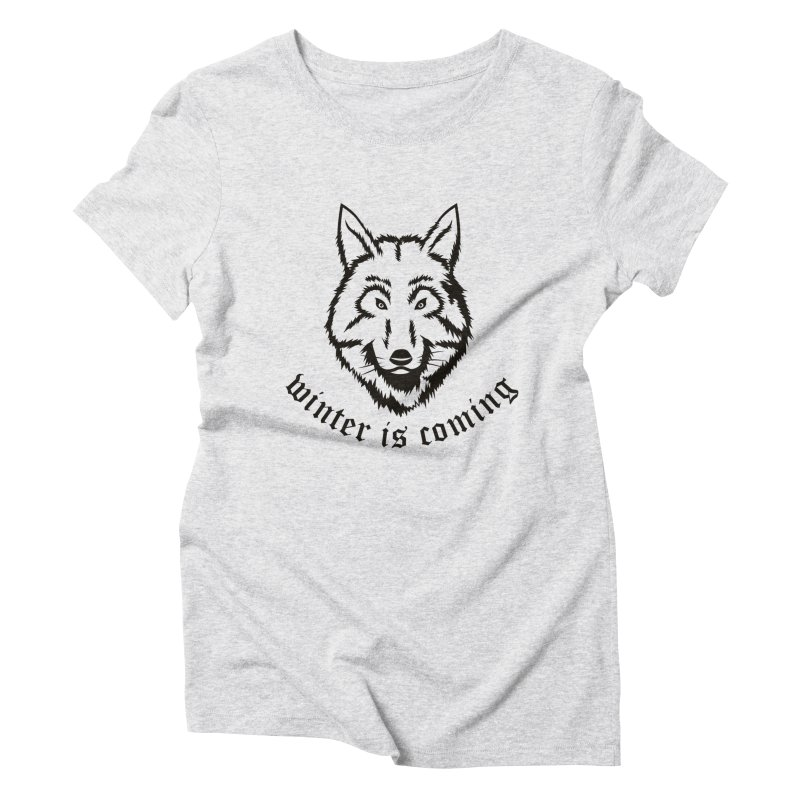 Northern Wolf Women's Triblend T-Shirt by Synner Design