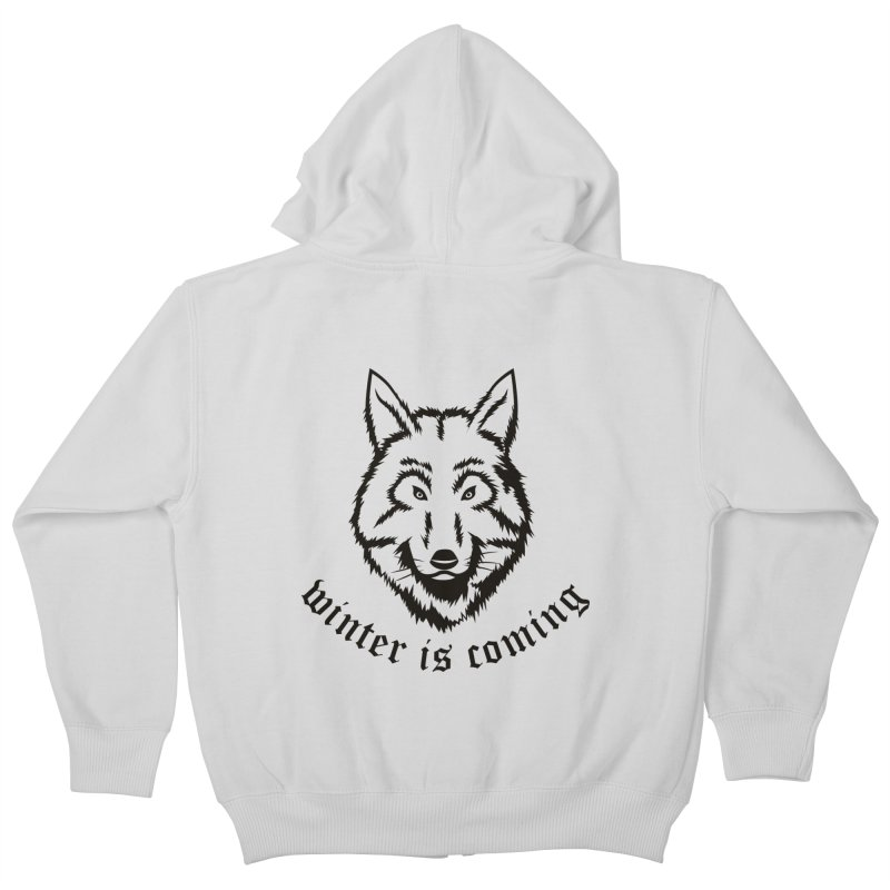 Northern Wolf Kids Zip-Up Hoody by Synner Design