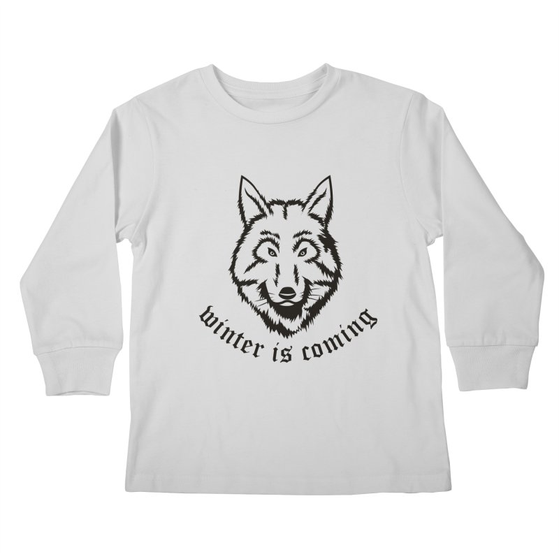 Northern Wolf Kids Longsleeve T-Shirt by Synner Design