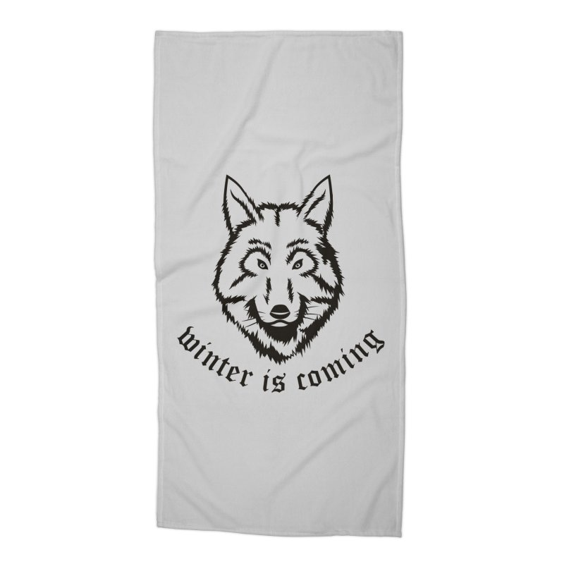 Northern Wolf Accessories Beach Towel by Synner Design