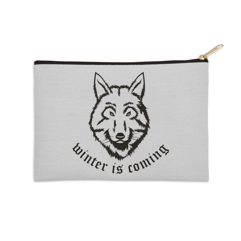 Northern Wolf Accessories Zip Pouch by Synner Design