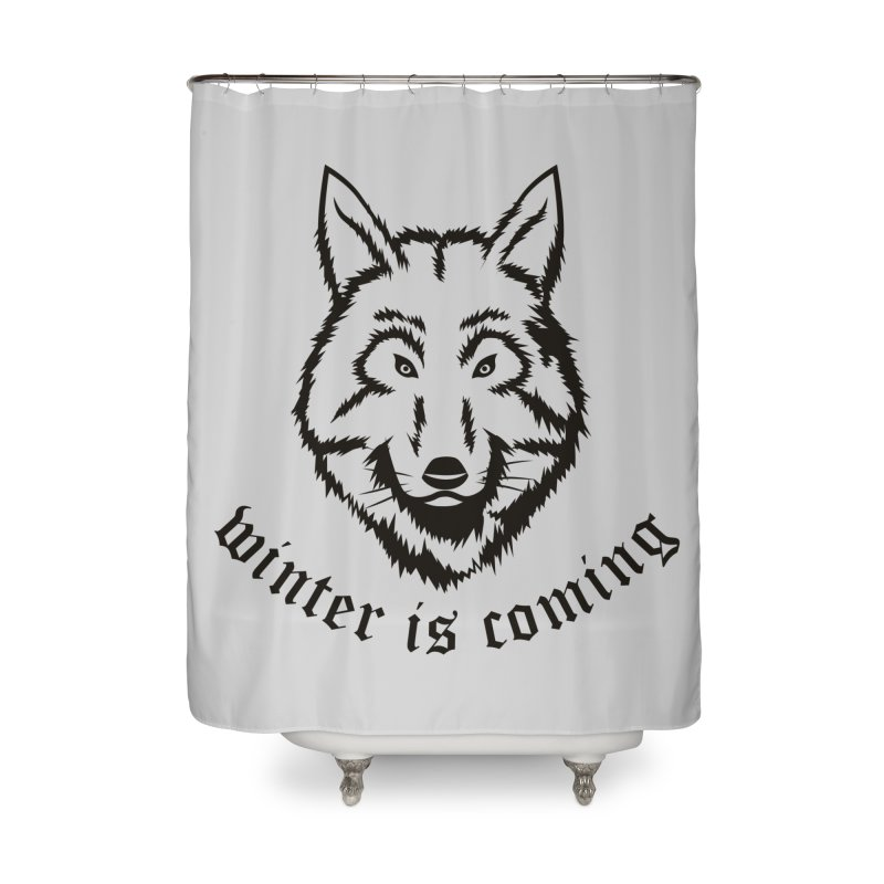 Northern Wolf Home Shower Curtain by Synner Design
