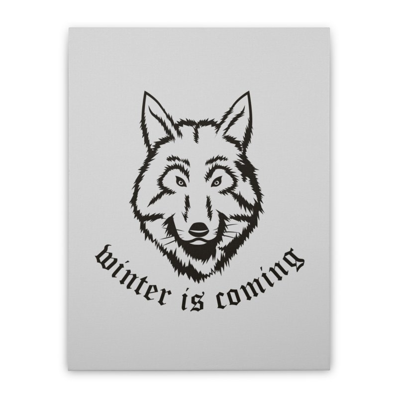 Northern Wolf Home Stretched Canvas by Synner Design