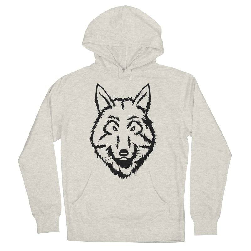 Northern Wolf Women's French Terry Pullover Hoody by Synner Design