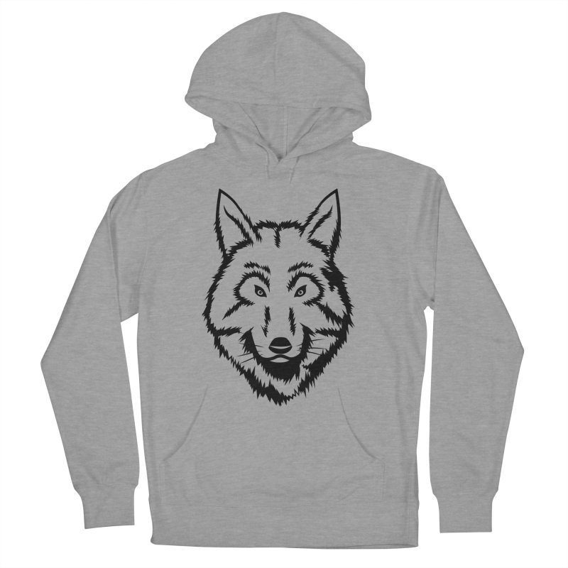 Northern Wolf Men's French Terry Pullover Hoody by Synner Design