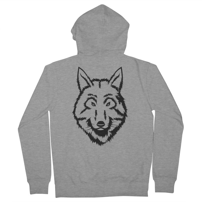 Northern Wolf Women's French Terry Zip-Up Hoody by Synner Design