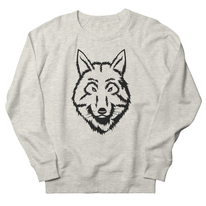 Northern Wolf Men's French Terry Sweatshirt by Synner Design