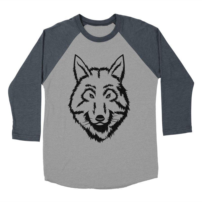 Northern Wolf Women's Baseball Triblend Longsleeve T-Shirt by Synner Design