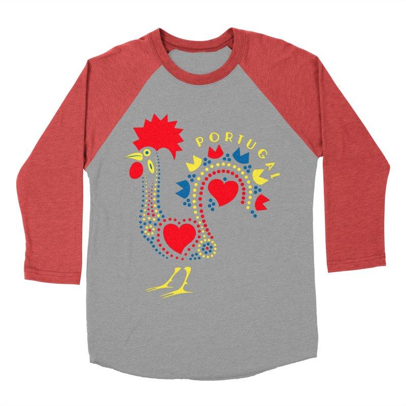 Magic Rooster Women's Baseball Triblend Longsleeve T-Shirt by Synner Design