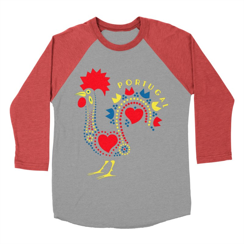 Magic Rooster Men's Baseball Triblend T-Shirt by Synner Design